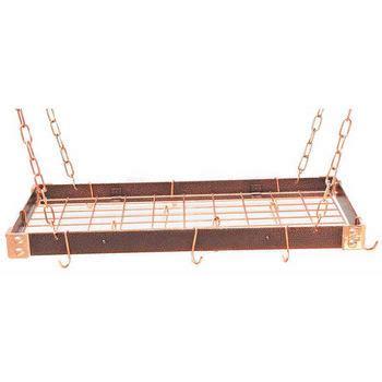 rectangular pot racks of hammered steel stainless steel