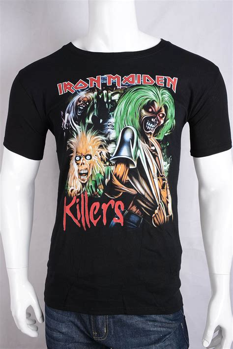 T Shirt Metal Iron Maiden iron maiden t shirt mens uk band metallica t shirt