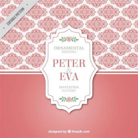 freepik wedding pattern decorative pink wedding pattern vector free download