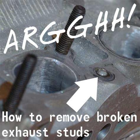 strategies  removing broken exhaust studs eeuropartscom blog