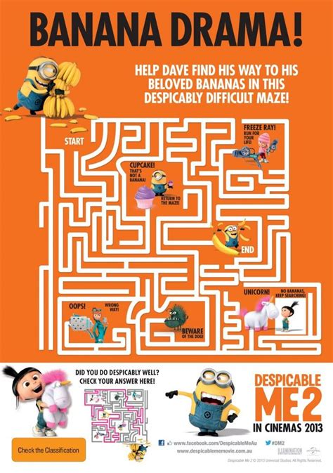 minions printable activity sheets despicable me activity sheets party on pinterest