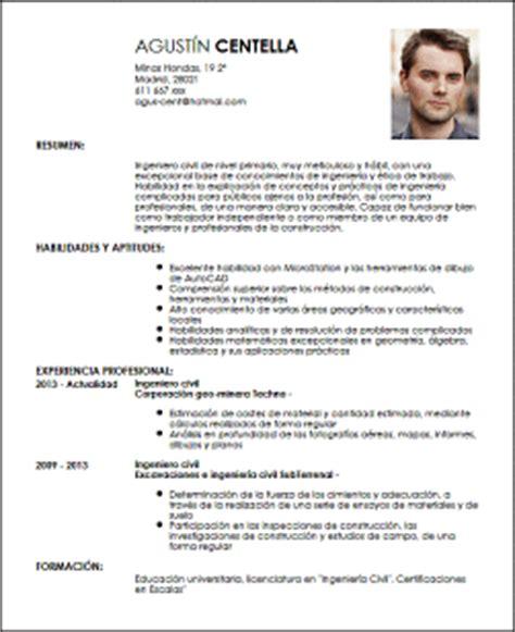 Modelo De Curriculum Vitae Para Trabajo En Construccion Modelo Cv Ingeniero Civil De Nivel Primario Livecareer