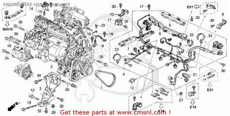 honda accord   dr dx abs ka engine wire harness