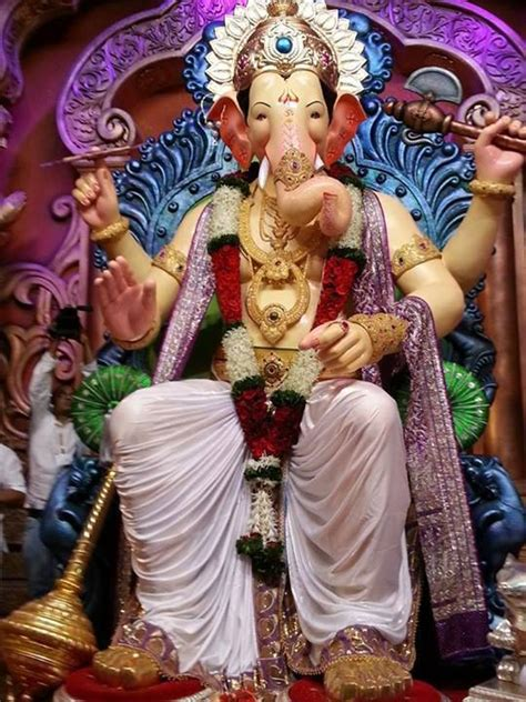 lalbaugcha raja  wallpapers  watermark hindupad