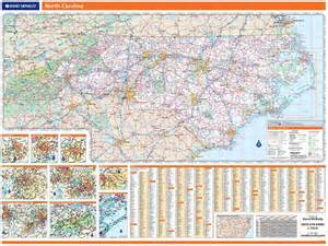 carolina wall map rand mcnally carolina map one map place inc