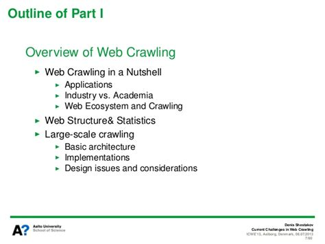 Tutorial Web Crawling | current challenges in web crawling