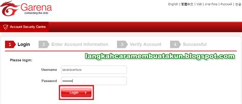 buat akun pb di hp cara buat akun pb garena indonesia dan verifikasinya