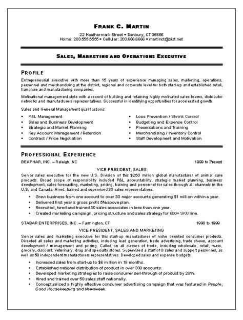 sales marketing resume format elegant sample resume for marketing