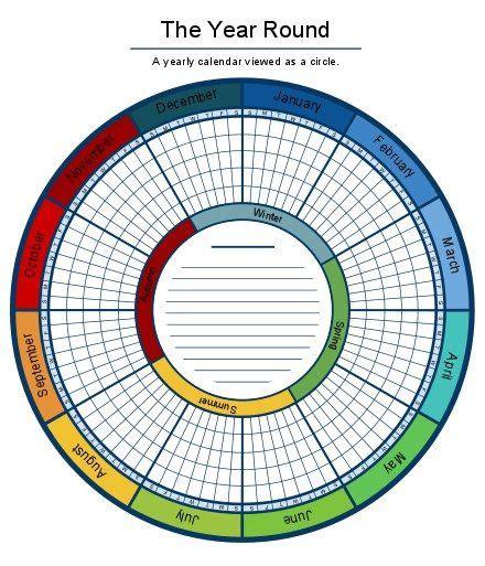 circular calendar template a circular calendar makes planning your year pretty a