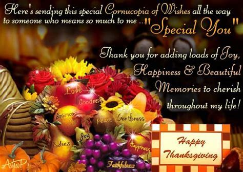 Special Thanksgiving Wishes! Free Specials eCards