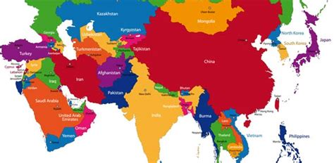 asia map with capitals and countries southwest and central asia capitals proprofs quiz