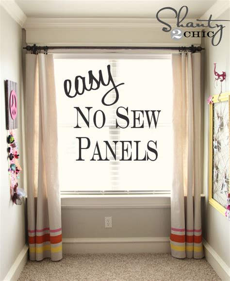 easy curtains no sew easy no sew window panels shanty 2 chic