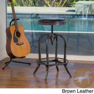 christopher bar stools overstock gunner swivel iron bar stool by christopher home by