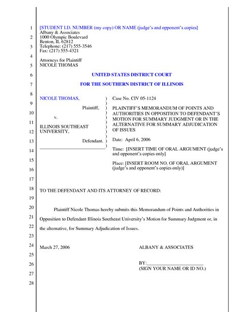 28 legal motion template best photos of court document