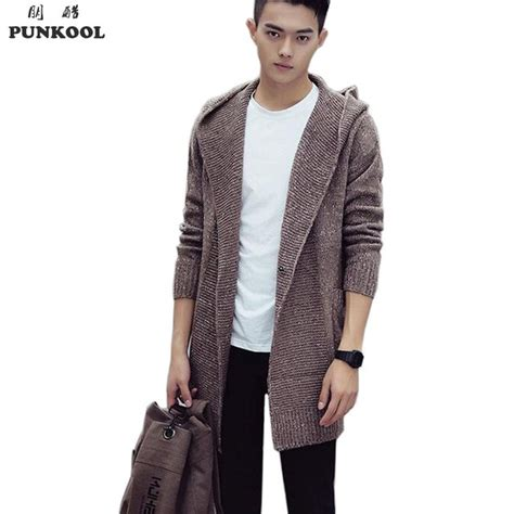 Pull And Sweater Rajut Authentic Grey Size M aliexpress buy punkool sweater 2016 hooded cardigan sweater jacket coats