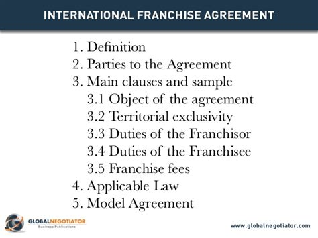 franchise agreement template international franchise agreement template