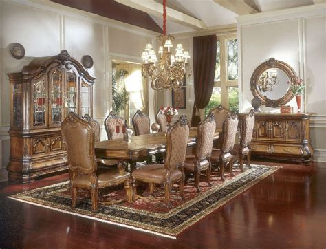 aico dining room sets michael amini tuscano traditional formal dining table set