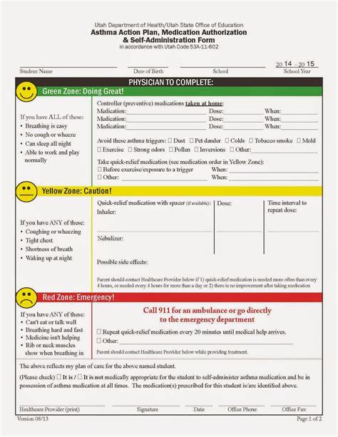 asthma care plan template my as an asthma asthma plans for school
