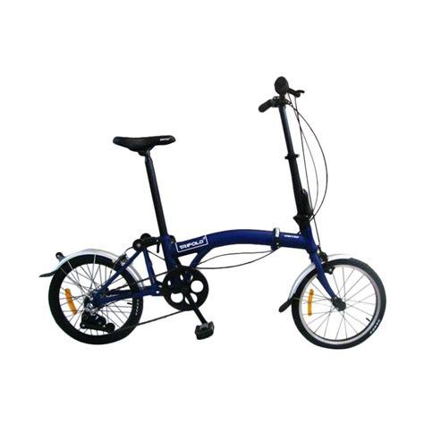 Sepeda Lipat 16 jual united trifold sepeda lipat blue 16 inch