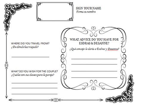wedding guestbook template diy wedding guestbook templates my diy guestbook page
