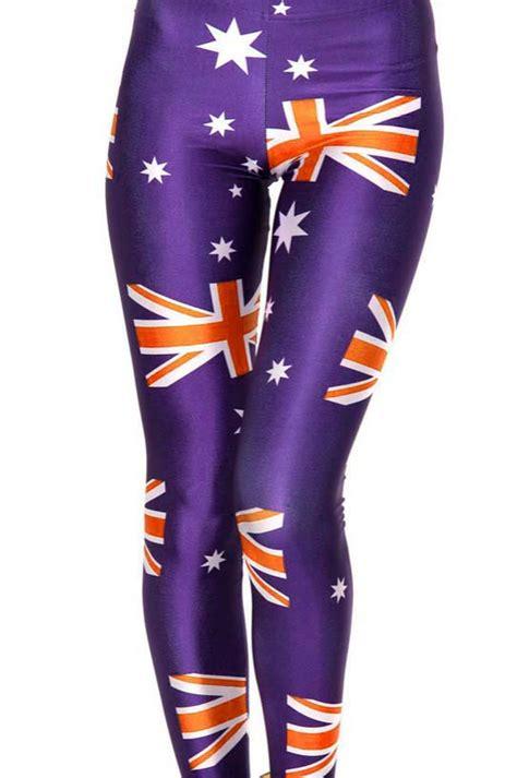 L6983 T prevalent australia flag print legging l10319
