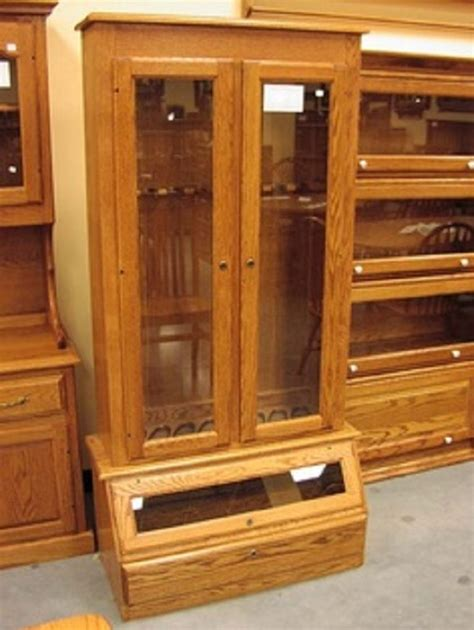 Gun Cabinet by Build Your Own Gun Cabinet Woodworking Projects Plans