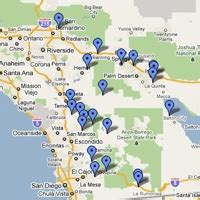 indian casinos in southern california map southern california casino map