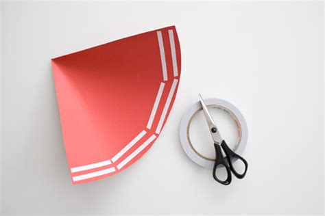 How To Make A Cone From Paper - how to make a paper cone cakejournal