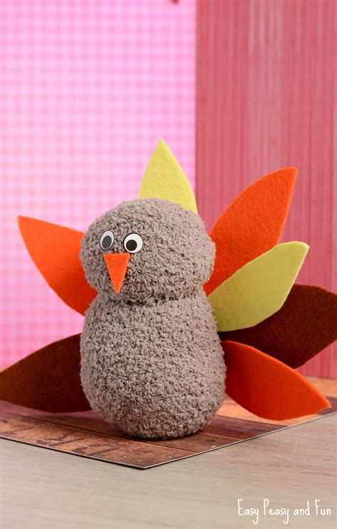 no sew sock turkey craft easy peasy and fun