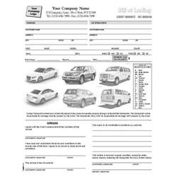 Car Rental Checklist Form Template Condition Report Forms Automobile Forms Standard Forms