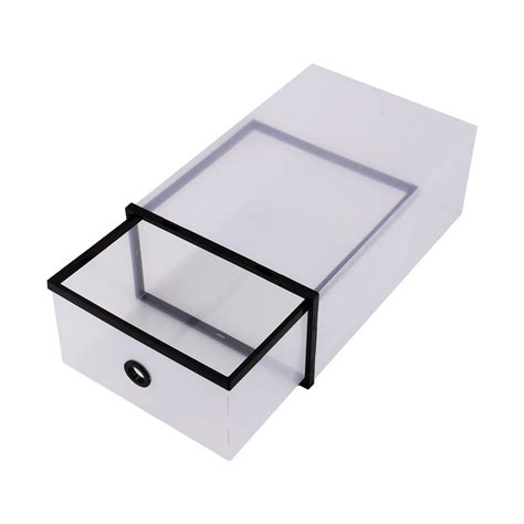 clear stackable drawers uk clear plastic shoe boxes stackable drawer foldable 5 pcs