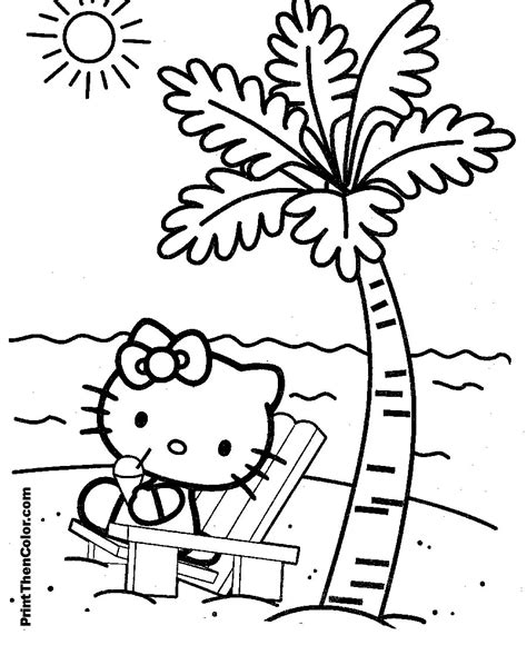 free coloring book pages hello lo kittie colouring pages