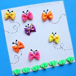 How To Make A Card Out Of Paper - bow tie noodle butterfly craft for kids crafty morning