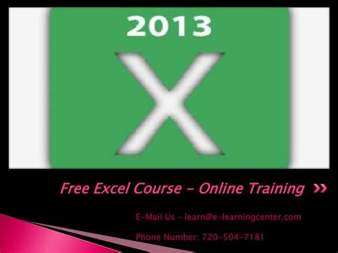 Ppt Free Excel Course Powerpoint Presentation Id 7355189