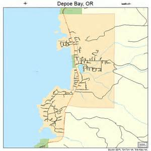depoe bay oregon map 4118850