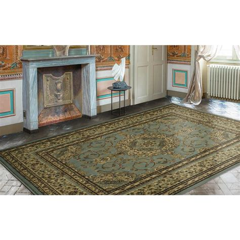 area rug on tile floor ottomanson traditional medallion 7 ft 10 in x 9 ft 10 in area rug ptr1510 8x10