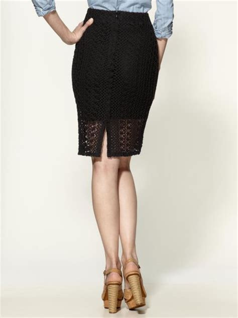 free pin up pencil skirt in black black combo lyst