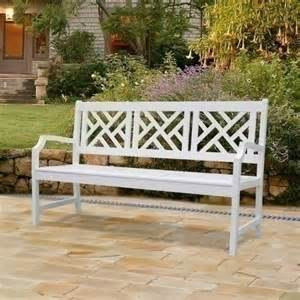 White Wooden Bench Outdoor Vifah Bradley Outdoor Wood Bench White By Vifah