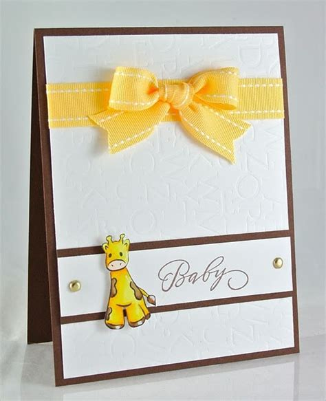 Handmade Baby Announcement Cards - 25 best ideas about baby cards on handmade