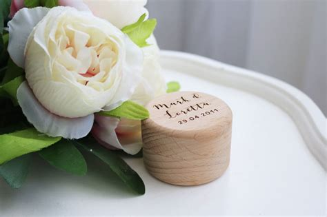 Wedding Ring Box Nz by Keeps Crafted Personalised Wooden Wedding Ring Box