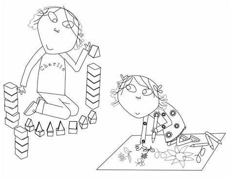 charlie and lola coloring pages coloring home