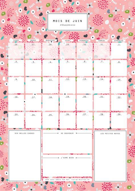 Calendrier 0 Imprimer Juin 2015 Juin Calendrier Organisateur Mensuel 224 Imprimer Vie De