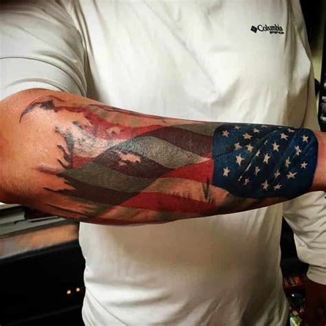 flag tattoos for men american flag tattoos for images