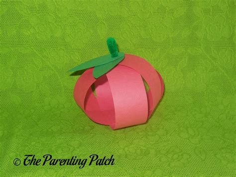 Paper Apple Crafts - paper apple craft parenting patch