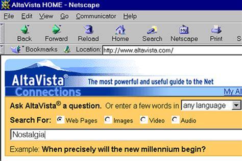 Alta Vista Search Yahoo Shuts Relic Altavista Salon