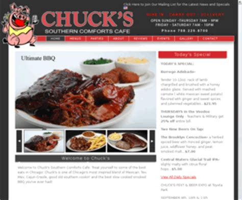 chucks southern comfort the best 28 images of chucks southern comfort cafe chuck