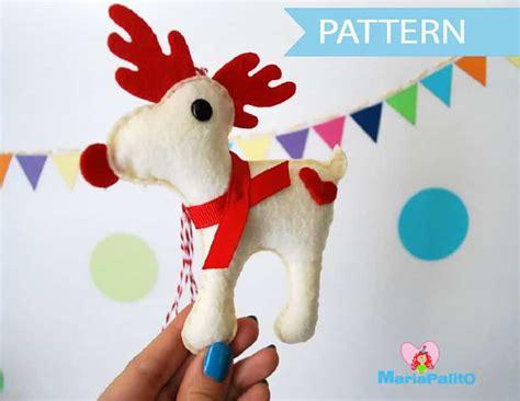 pattern for a felt reindeer felt reindeer ornament sewing pattern a1095 the pattern