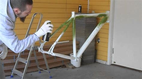 Bike Frame Repaint Pt 3 Primary Color Layer 1 Of 2