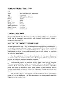 clinical case write up sample