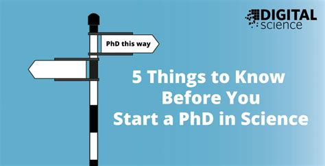 Mba After Phd In Sciences by 5 Things To Before You Start A Phd In Science